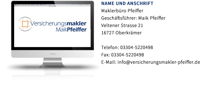 Maklerbuero Pfeiffer Erstinformation